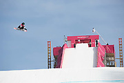 Laurie Blouin, Canada, competes at the ladies big air qualification during the Pyeongchang Winter Olympics 2018 on February 19th 2018, at the Alpensia Ski Jumping Centre, South Korea