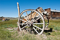 Derelict cart at Bodie state historic park, California, USA