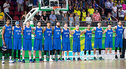 Handout photo dated 14/04/2018 provided by Jeff Holmes of Team Scotland in their game against Australia in the Men's Semifinal Basketball at the Gold Coast Convention and Exhibition Centre during day ten of the 2018 Commonwealth Games in the Gold Coast, Australia. Issue date: Saturday April 14, 2018. See PA story COMMONWEALTH Basketball. Photo credit should read Jeff Holmes/PA Wire. NOTE TO EDITORS: This handout photo may only be used in for editorial reporting purposes for the contemporaneous illustration of events, things or the people in the image or facts mentioned in the caption. Reuse of the picture may require further permission from the copyright holder.