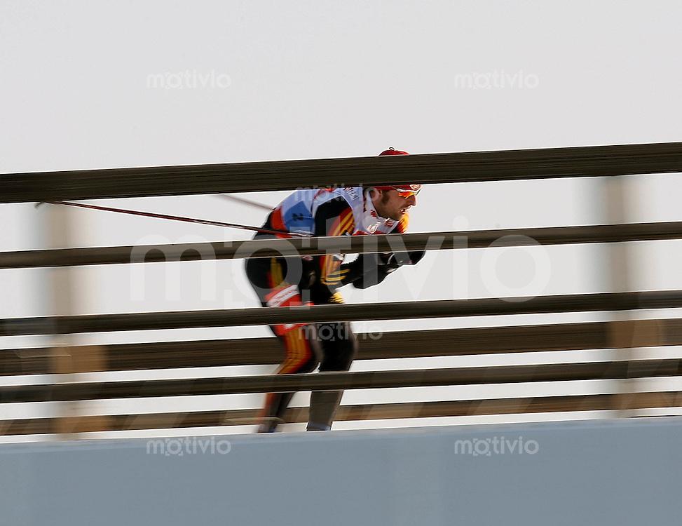 Sapporo , 020307 , Nordische Ski Weltmeisterschaft  Maenner 4x10KM Staffel Rennen ,  Axel TEICHMANN (GER)