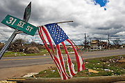 TUSCALOOSA, AL – MAY 16, 2011: On April 27, 2011, an EF-4 tornado damaged or destroyed nearly 10 percent of the city of Tuscaloosa. Tornadoes in Alabama that day killed more than 250 people. The damage in Tuscaloosa was still being cleared on May 16, 2011. (Photo by Suzanne Tylander ©2011)