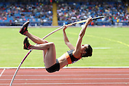 Rachel Gibbens competing in the Women's Pole Vault Final.The British Championships 2016, athletics event at the Alexander Stadium in Birmingham, Midlands  on Saturday 25th June 2016.<br /> pic by John Patrick Fletcher, Andrew Orchard sports photography.