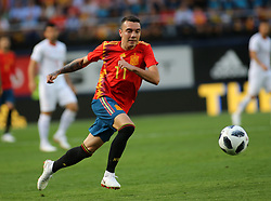 Iago ASPAS of Spain during Spain v Switzerland international friendly match in Villareal, Spain, June 3, 2018. The game finished in a 1-1 draw. Photo by Giuliano Bevilacqua/ABACAPRESS.COM