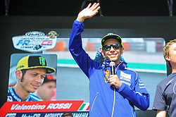 May 18, 2018 - Le Mans, France - Valentino Rossi meet the fans at Bugatti Circuit, Le Mans France.during MotoGP Le Mans practice sessions in France  (Credit Image: © Gaetano Piazzolla/Pacific Press via ZUMA Wire)