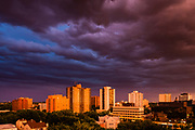 "View from the Cloud, Saskatoon Gathering Storm. 20"" x 30"" photographic print on aluminum."