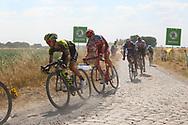 Adam Yates (GBR - Mitchelton - Scott) during the 105th Tour de France 2018, Stage 9, Arras Citadelle - Roubaix (156,5km) on July 15th, 2018 - Photo Kei Tsuji / BettiniPhoto / ProSportsImages / DPPI