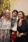 VALERIA NAPOLEONE; MARVIN GAYE CHETWYND, Valeria and Gregorio Napoleone and Joe Scotland host a dinner at therir home in Kensington  in celebration of Sol  Calero's commission at Studio Voltaire.  London. 13 October 2015