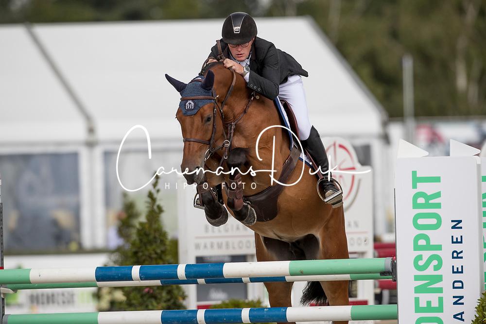Tips Maxime, BEL, Quirischa van het Weyenshof<br /> BK Young Horses 2020<br /> © Hippo Foto - Sharon Vandeput<br /> 6/09/20