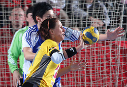 Tatjana Oder at handball match at Main round of Champions League between RK Krim Mercator, Ljubljana and CS Oltchim Rm. Valcea, Romania, in Arena Kodeljevo, Ljubljana, Slovenia, on 28th of February 2009. Krim won 35:34.