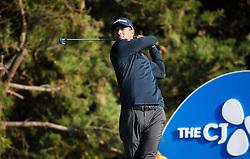 Oct 19, 2018-Jeju, South Korea-ADAM SCOTT of Australia action on the 11th tee during the PGA Golf CJ Cup Nine Bridges Round 2 at Nine Bridges Golf Club in Jeju, South Korea.