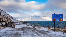 THEMENBILD - Ketildalavegur, 465 Bildudalur, aufgenommen am 24. Oktober 2019 in Island // Ketildalavegur, 465 Bildudalur, Iceland on 2019/10/24. EXPA Pictures © 2019, PhotoCredit: EXPA/ Peter Rinderer