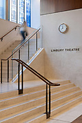 The Linbury Theatre hall at The Royal Opera House on the 4th December 2019 in London in the United Kingdom. The Linbury Theatre is a world-class stage for The Royal Ballet, The Royal Opera and their collaborating artists and partners.