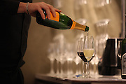 Wine being served at Fonte Coffee Roaster Cafe and Wine Bar in Seattle.<br /> Cliff DesPeaux / The Seattle Times