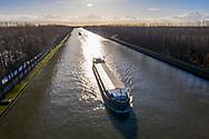 Nederland, Amsterdam,  20181204<br /> Amsterdam-Rijnkanaal met schepen<br />  <br /> Foto (c) Michiel Wijnbergh