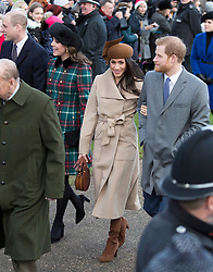 Meghan Markle joins The Royal Family as they attend Church on Christmas Day at St Mary Magdalene, Sandringham, Norfolk, UK, on the 24th December 2017. 25 Dec 2017 Pictured: Prince William, Duke of Cambridge, Catherine, Duchess of Cambridge, Kate Middleton, Meghan Markle, Prince Harry. Photo credit: MEGA TheMegaAgency.com +1 888 505 6342