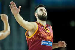Bojan Trajkovski of Macedonia during basketball match between Netherlands and Macedonia at Day 2 in Group C of FIBA Europe Eurobasket 2015, on September 6, 2015, in Arena Zagreb, Croatia. Photo by Vid Ponikvar / Sportida