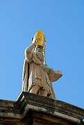 Statue of Saint Blaise (Sveti Vlaho), atop Church of St. Blaise, Dubrovnik old town, Croatia