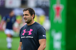 Clermont Auvergne's Head Coach Franck Azema during the pre match warm up - Mandatory by-line: Craig Thomas/JMP - 15/10/2017 - RUGBY - Liberty Stadium - Swansea, Wales - Ospreys Rugby v Clermont Auvergne - European Rugby Champions Cup