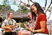 Ukulele lesson; Hotel Hana; Maui; Hawaii
