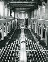 1973 Interior of Blessed Sacrament Church on Sunset Blvd.