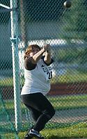Friidrett, 2. august 2002, Junior-NM. Randi Jensen, i slegge.