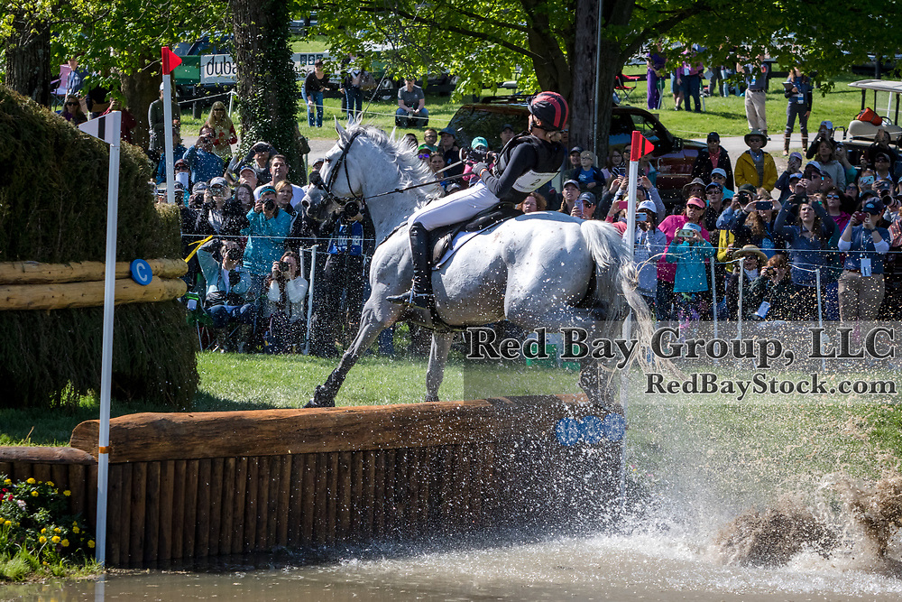 Caroline Martin (USA) and Islandwood Captain Jack during the cross-country at the 2019 Land Rover Kentucky Three-Day Event presented by MARS EQUESTRIAN in Lexington, Kentucky