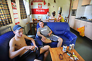 Nederland, Maasbree, 20-8-2011Poolse arbeidskrachten worden ondergebracht in een woonvoorziening, Work and Stay, grenzend aan recreatiepark Breebronne. Op het terrein is ook een vestiging van het uitzendbureau, Hands to Work.Foto: Flip Franssen/Hollandse Hoogte