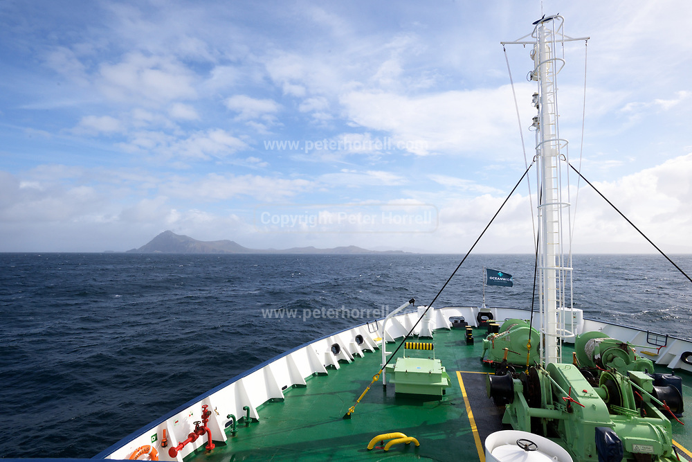 The view of Cape Horn from the MV Ortelius on Monday 19 February 2018.