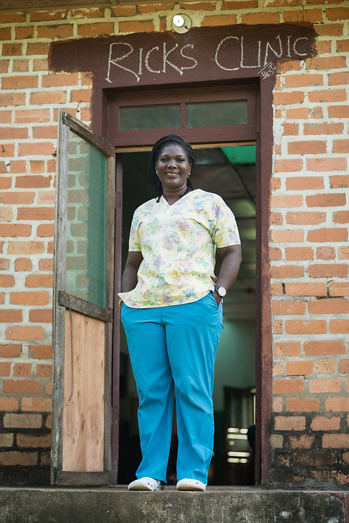 4 November 2019, Vriginia, Liberia: Helena Bridges serves as head nurse at Ricks Clinic, a part of Ricks Institute. For seven years, she has provided healthcare for students experiencing sicknesses such as Malaria or ordinary colds. The Liberia Baptist Convention runs Ricks Institute, a day and boarding school for currently 496 students from kindergarten up through 12th grade.