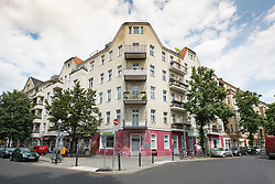 Traditional apartment building in Neukolln district in Berlin Germany