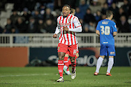 Aaron O'Connor (Stevenage) during the Sky Bet League 2 match between Hartlepool United and Stevenage at Victoria Park, Hartlepool, England on 9 February 2016. Photo by Mark P Doherty.