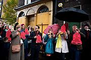 Protest against hotel development of Whitechapel Bell Foundry in Whitechapel, London on November 9th 2019.