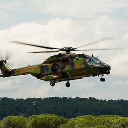 Créée il y a 60 ans, l'Aviation Légère de l'Armée de Terre (ALAT) a ouvert ses portes au Luc les 28 et 29 juin 2014 pour faire connaître ses matériels et ses métiers. L'occasion de découvrir les missions des hélicoptères de manœuvre et d'attaque.<br /> Juin 2014 / Le Luc en Provence / Var (83) / FRANCE