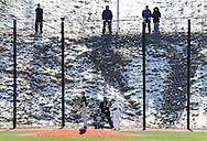 Chester, New York  - Mount Saint Mary College plays SUNY Brockport in a baseball game at The Rock Sports Park on Feb. 26, 2012.