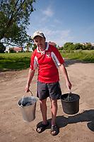 24.05.2012 wies Waniewo woj podlaskie N/z czlowiek w koszulce polskiej reprezentacji fot Michal Kosc / AGENCJA WSCHOD