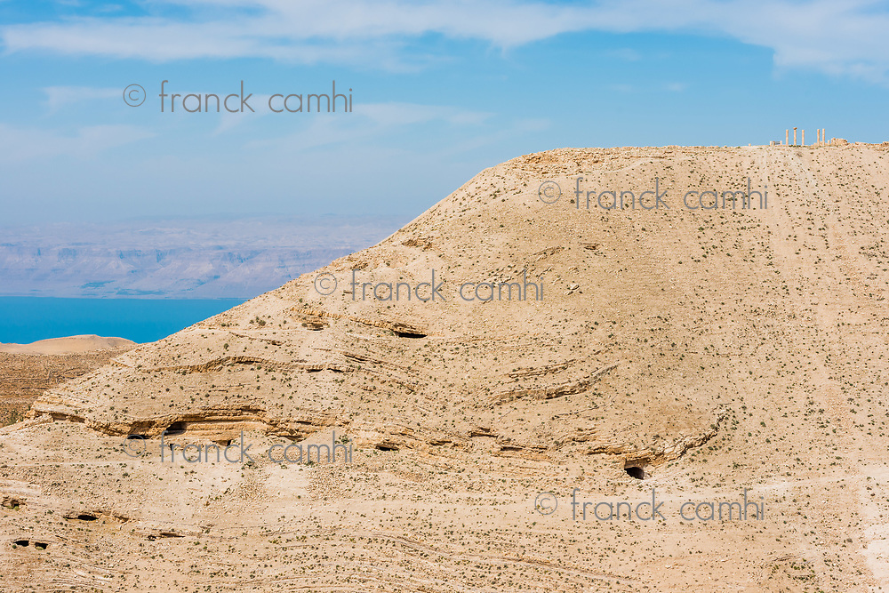 mountain of The Herod's castle machareus in Jordan