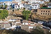 Cave dwellings and whitewashed houses Setenil de las Bodegas, Cadiz province, Spain