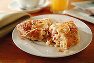 bacon and egg pastry, breakfast pastry food photos