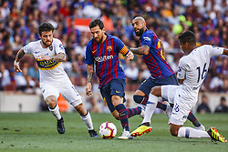 August 15, 2018 - Barcelona, Spain - Leo Messi from Argentina during the Joan Gamper trophy game between FC Barcelona and CA Boca Juniors in Camp Nou Stadium at Barcelona, on 15 of August of 2018, Spain. (Credit Image: © Xavier Bonilla/NurPhoto via ZUMA Press)