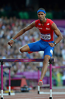 LONDON OLYMPIC GAMES 2012 - OLYMPIC STADIUM , LONDON (ENG) - 04/08/2012 - PHOTO : JULIEN CROSNIER / KMSP / DPPI<br /> ATHLETICS - MEN'S 400M HURDLES - JAVIER CULSON (PUR)