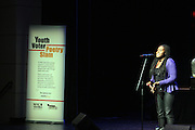 November 10, 2012- Harlem, NY:  The NYC Youth Poet Laureate Slam Compettion held at the Schomburg Center on November 10, 2012 in the village of Harlem. (Terrence Jennings) .