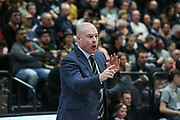 Basketball: 1. Bundesliga, Hamburg Towers - Hakro Merlins Crailsheim 91:92, Hamburg, 29.02.2020<br /> Trainer Mike Taylor (Towers)<br /> © Torsten Helmke