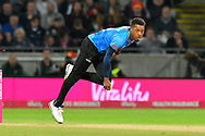 Chris Jordan of Sussex bowling during the final of the Vitality T20 Finals Day 2018 match between Worcestershire Rapids and Sussex Sharks at Edgbaston, Birmingham, United Kingdom on 15 September 2018.