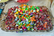 Fruit sweets in shop window of luxury patticeria, caffe sweet shop Gilli  in Florence, Tuscany, Italy