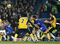 Photo: Lee Earle.<br /> Chelsea v Wigan Athletic. The Barclays Premiership.<br /> 10/12/2005. John Terry heads home the opening goal.