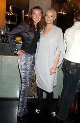Left to right, NOELE RENO and KALITA AL-SWAIDI  at the 1st Baglioni Hotel's Designer Lunch featuring designs by Amanda Wakelel held at The Baglioni Hotel, 60 Hyde Park gate, London on 1st February 2006.<br /><br />NON EXCLUSIVE - WORLD RIGHTS