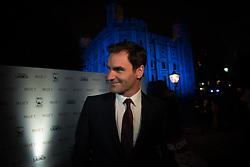 November 9, 2017 - London, England, United Kingdom - Roger Federer of Switzerland arrives during the The Official Launch for ATP Finals prior to the start of ATP World Tour Finals Tennis at O2 Arena, London on November 9, 2017. (Credit Image: © Alberto Pezzali/NurPhoto via ZUMA Press)