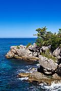 Coastal rocks and ocean, Negril Jamaica