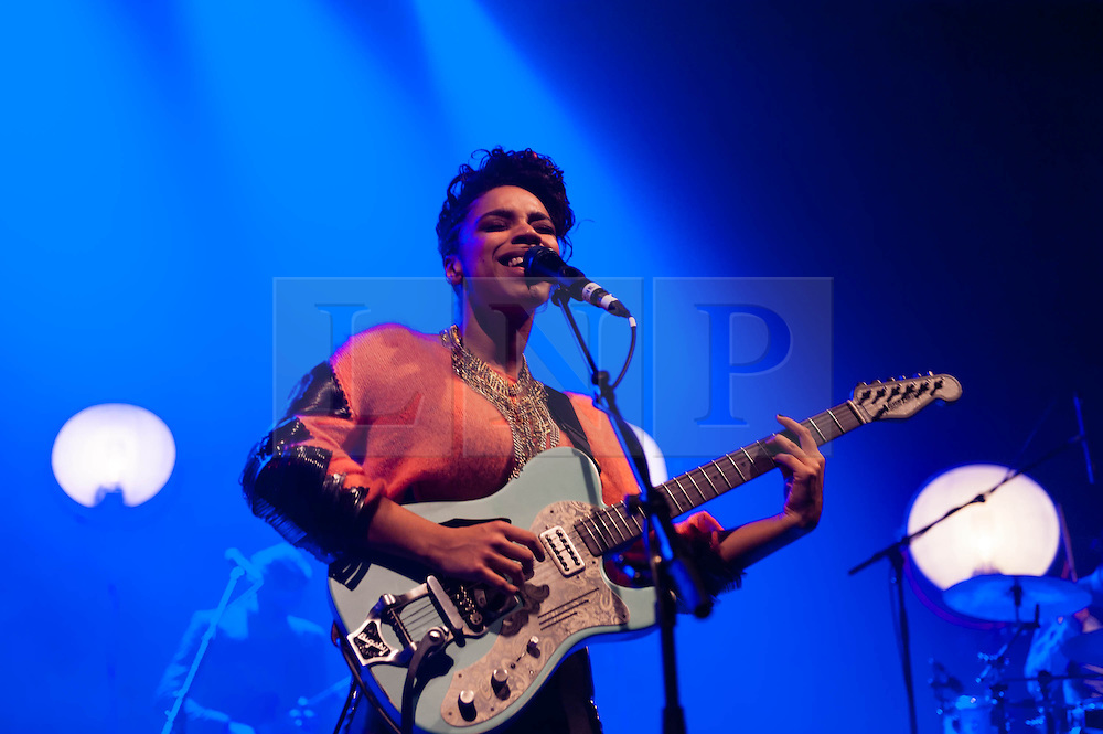 """© Licensed to London News Pictures. 12/03/2013. London, UK.   Lianne La Havas performing live at O2 Shepherds Bush Empire. Lianne La Havas is an English folk and soul singer, songwriter and multi-instrumentalist. She was nominated for the BBC's Sound of 2012 poll, and her debut album """"Is Your Love Big Enough"""" was later both nominated for a 2012 Mercury Prize in the Albums of the Year category and named iTunes Album of the Year.    Photo credit : Richard Isaac/LNP"""