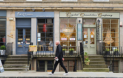 Small independent restaurant and shop in affluent district of Stockbridge in Edinburgh, Scotland, United Kingdom